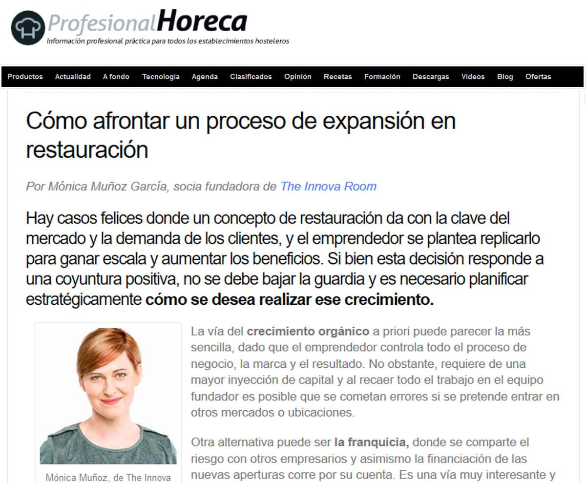 0160713_Cómo afrontar un proceso de expansión en la restauración_PROFESIONAL HORECA