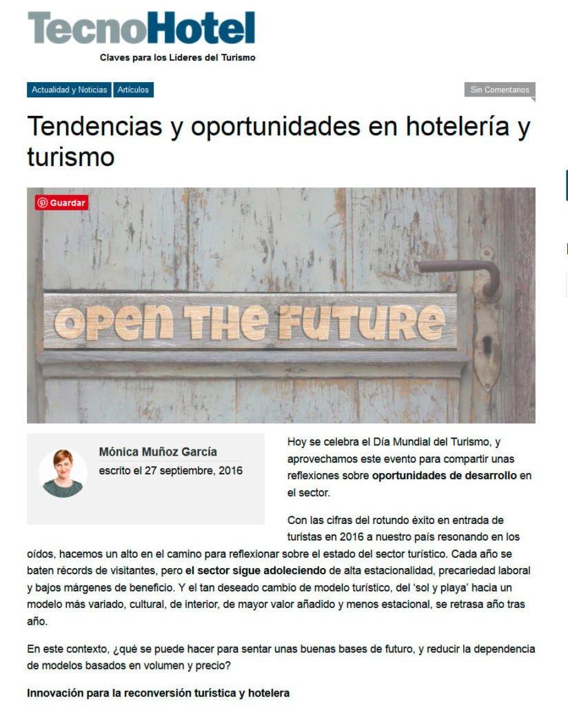 20160927_Tendencias y oportunidades en hotelería y turismo_TECNOHOTEL