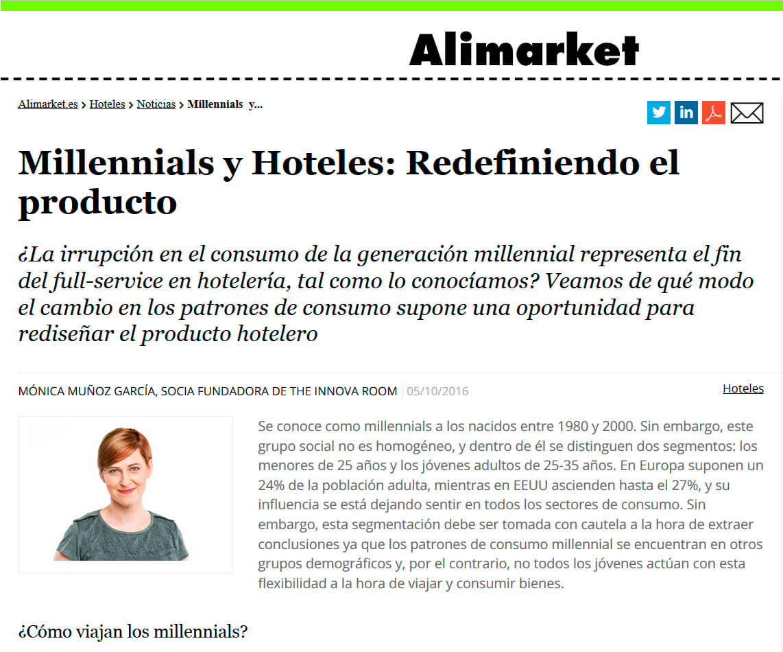 20161005_Millennials y hoteles-Redefiniendo el producto_ALIMARKET