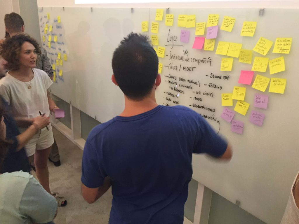 taller design thinking en ISDI Barcelona