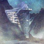 Un hotel futurista colgado en los Alpes