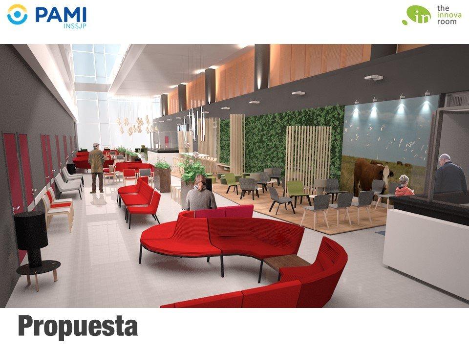 Hospital PAMI Leloir - Concepto áreas públicas